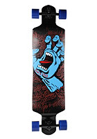 SANTA CRUZ Longboard Screaming Hand Drop Down 10.0 black/blue