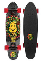 SANTA CRUZ Longboard Sidewalk Screaming Rasta Lion 6.4 one color