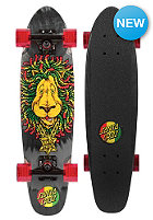 SANTA CRUZ Longboard Sidewalk Screaming Rasta Lion 6.4 one color