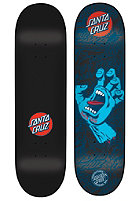 SANTA CRUZ Screaming Hand Black N Blue Deck 7.60