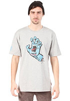 SANTA CRUZ Screaming Hand S/S T-Shirt heather grey/blue (frontprint)