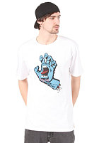 SANTA CRUZ Screaming Hand S/S T-Shirt white/blue (frontprint)
