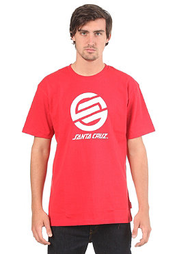 SANTA CRUZ Strip Knot S/S T-Shirt rich red