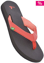 SANUK Womens Yoga Mat Sandals red