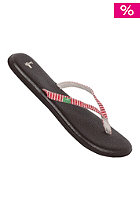 SANUK Womens Yoga Spree Funk red stripes