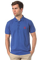SELECTED Aro Embroidery S/S Polo Shirt baron blue
