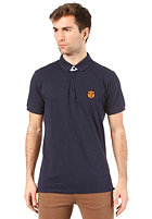 SELECTED Aro Embroidery S/S Polo Shirt maritime navy