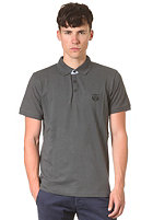 SELECTED Aro Embroidery S/S Polo Shirt newsprint grey
