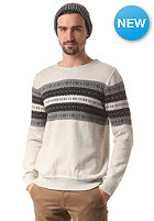SELECTED Ayden Pattern Crew Knit Sweat marshmallow