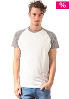 SELECTED Base S/S O Neck T-Shirt medium grey melange