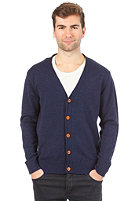 SELECTED Benton Grandad Cardigan potent purple m�lange