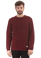 SELECTED Brick Crew Knit Sweat syrah