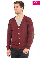 SELECTED Campus Granddad Cardigan Sweat new wine melange
