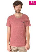 SELECTED Chambray O-Neck S/S T-Shirt red