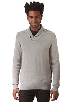 SELECTED Cowan Shawl Neck Knit Sweat light grey melange