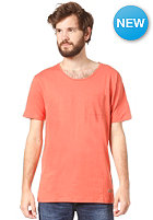 SELECTED Dave Neck S/S T-Shirt burnt sienna