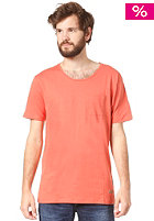 SELECTED Dave O Neck S/S T-Shirt burnt sienna