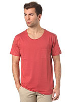 SELECTED Dave S/S T-Shirt washed cinnabar