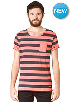 SELECTED Dave Stripe O Neck S/S T-Shirt Spiced Coral