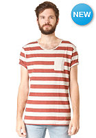 SELECTED Dave Stripe S/S T-Shirt stripes fired brick melange
