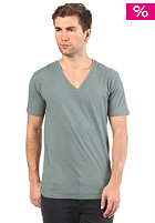 SELECTED Drill Deep V-Neck S/S T-Shirt green hornet melange