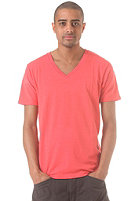 SELECTED Drill Single Deep V Neck S/S T-Shirt bittersweet
