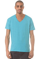 SELECTED Drill Single Deep V Neck S/S T-Shirt bluebird/melange