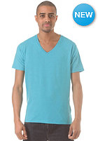 SELECTED Drill Single Deep V Neck S/S T-Shirt bluebird