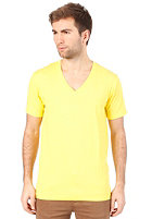SELECTED Drill Single Deep V-Neck S/S T-Shirt buttercup melange