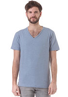 SELECTED Drill Single Deep V-Neck S/S T-Shirt faded denim