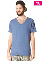 SELECTED Drill Single Deep V-Neck S/S T-Shirt federal blue