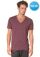 SELECTED Drill Single Deep V-Neck S/S T-Shirt fig melange