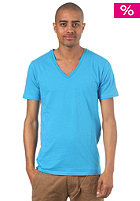 SELECTED Drill Single Deep V-Neck S/S T-Shirt persian blue