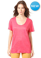 SELECTED FEMME Womens Daisy S/S Linen T-Shirt claret red