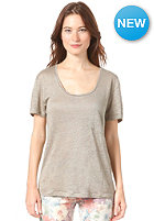 SELECTED FEMME Womens Daisy S/S Linen T-Shirt cley green