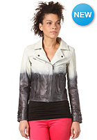 SELECTED FEMME Womens Dip Dye Leather Jacket white pepper