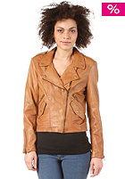 SELECTED FEMME Womens Jodie Leather Jacket cognac