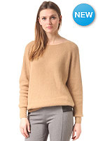 Womens Justina Longsleeve Knit Sweat tan