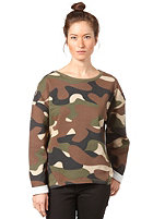 SELECTED FEMME Womens Lume Sweatshirt camou green camouflage print