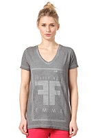 SELECTED FEMME Womens Mood S/S Print T-Shirt mid grey melange