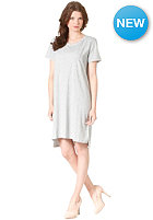 Womens Niso S/S Basic Dress light grey melange