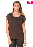 SELECTED FEMME Womens Starlight S/S T-Shirt brown brick