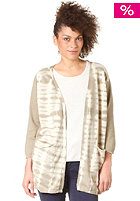 SELECTED FEMME Womens Tie Dye 3/4 Knit Cardigan white pepper/dip dye detail