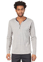 SELECTED Globe Split Neck L/S T-Shirt light grey melange
