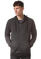 SELECTED Hank Contrast Hooded Zip Sweat dark grey melange