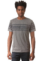 SELECTED Jacquard O-Neck S/S T-Shirt dark grey melange