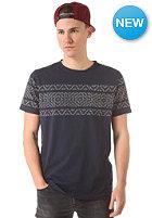 SELECTED Jacquard O-Neck S/S T-Shirt navy blazer
