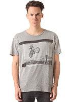 SELECTED Last Jump O-Neck S/S T-Shirt light grey melange