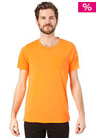 SELECTED Leth O-Neck S/S T-Shirt neon orange