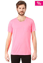 SELECTED Leth O-Neck S/S T-Shirt neon pink